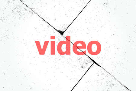 Text Video. Technology concept . Closeup of rough textured grunge background