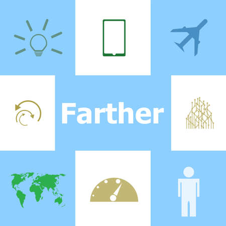 Text Father. Social concept . Infographic Elements. Icon set