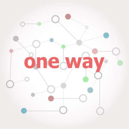 Texto Um caminho. Conceito de negócios . Linhas conectadas com pontos. Foto de archivo - 80945963