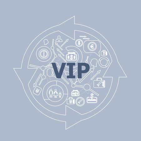 notability: Text Vip. Social concept . Icon and button set Stock Photo