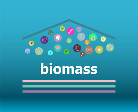 Text Biomass on digital background. Social concept Stock Photo