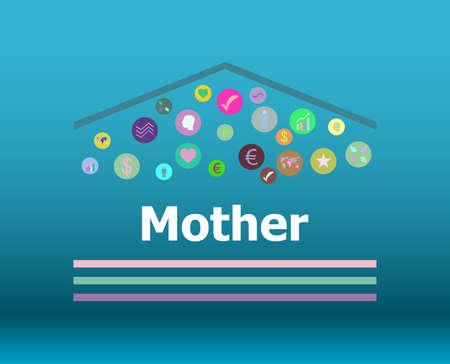 Text Mother. Social concept . Infographic Elements. Design Symbol