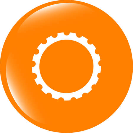 gear web icon, button isolated on white background
