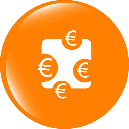 web sign icon. Euro eur symbol. Modern UI website button