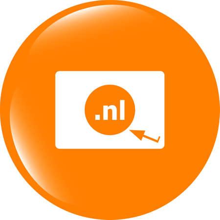 Domain NL sign icon. Top-level internet domain symbol Stock Photo