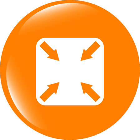 abstract lines (arrows) on web glossy icon (button)