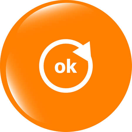 ok word on sign web icon. web button Stock Photo