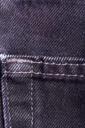 denim jeans background with seam of jeans fashion design. Old grunge vintage denim jean