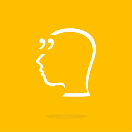 Quotation Mark Speech Bubble. Quote sign icon. Abstract background. Stock Photo