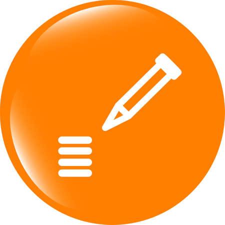 School Pencil Icon web icon on white background