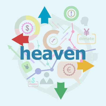 Text Heaven. Social concept. Abstract infographics options template. Can be used for workflow layout, diagram.