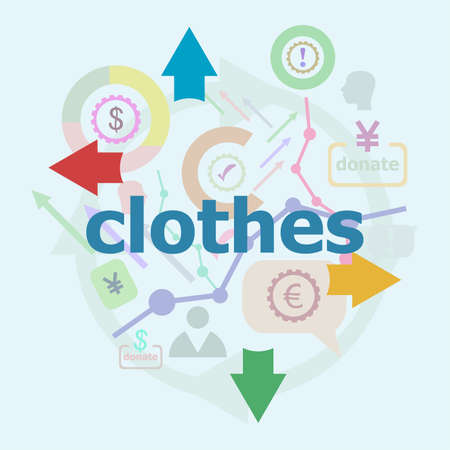 Text Clothes. Business concept. Abstract infographics options template. Can be used for workflow layout, diagram.