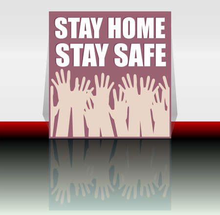 Stop COVID-19 coronavirus. Stay home - stay safe. COVID-19 design concept background