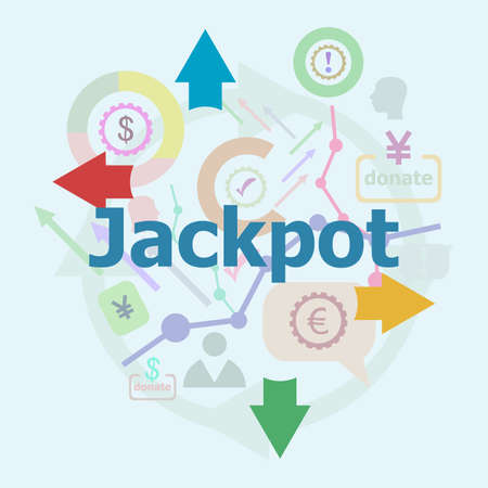 Text Jackpot. Business concept. Abstract infographics options template. Can be used for workflow layout, diagram. Stock Photo