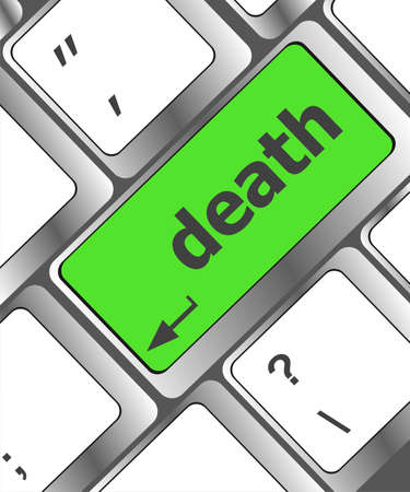death button on computer keyboard pc key Banque d'images