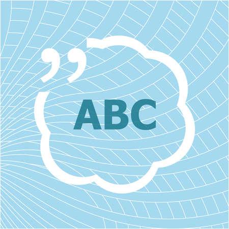 Text ABC. Business concept