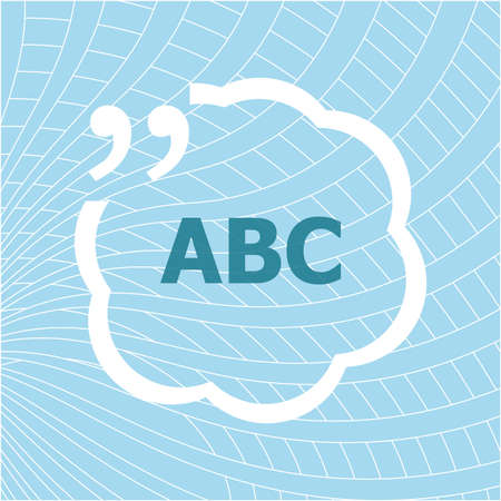 Text ABC. Business concept 스톡 콘텐츠