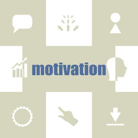text motivation. Business concept . Infographic Elements. Business icon set