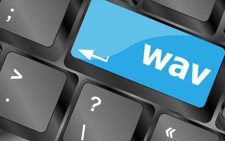 wav word on computer keyboard keys button 版權商用圖片 - 146708600