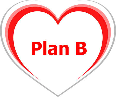 word plan b, business concept