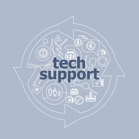 Text Text support. Information concept . Icon and button set
