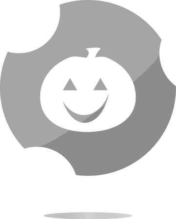 icon of halloween pumpkin on holiday, web button Imagens - 147905943