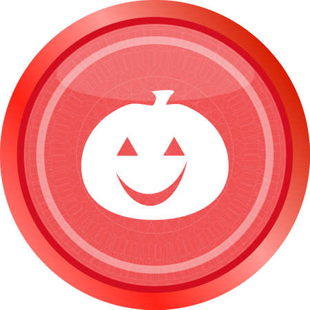icon of halloween pumpkin on holiday, web button