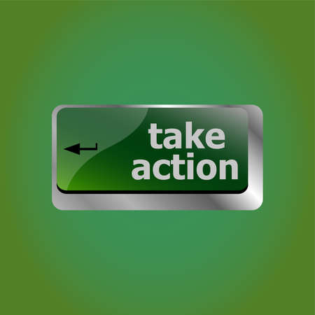 Take action key on a computer keyboard, business concept 版權商用圖片