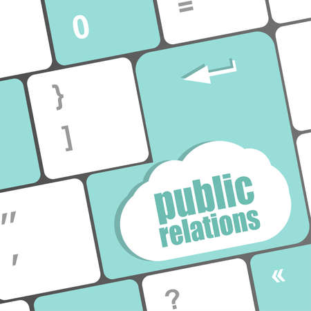 PR Advertising concept: computer keyboard with word Public Relations