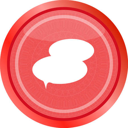 speech bubble web app button icon . Flat sign isolated on white background. speech bubble icon