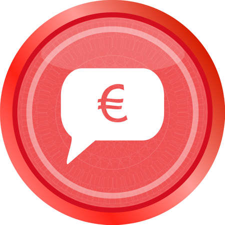 web icon on cloud with euro eur money sign button