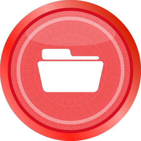 Folder icon web button . Trendy flat style sign isolated on white background. Folder icon. Folder web button. White Folder. Isolated on white folder