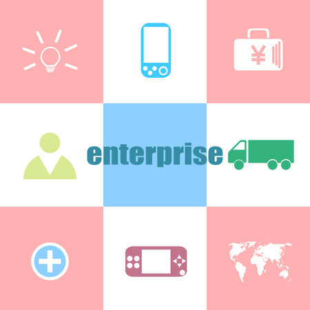 Text enterprise. Business concept . Can be used for workflow layout, diagram, business step options, banner