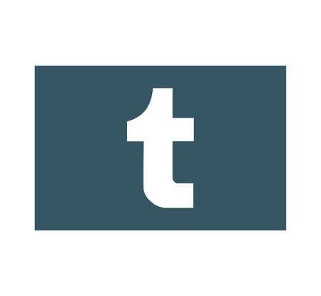 Tumblr is internet online social network. Tumblr app icon. Tumblr logo . Kharkiv, Ukraine - June 15, 2020 Editorial