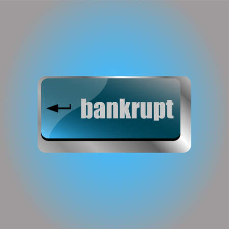 A keyboard with key reading bankrupt. business concept