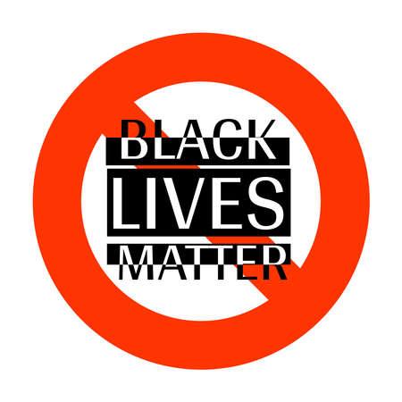 Black Lives Matter, I Can't Breathe. Protest Banner about Human Right of Black People in US. Black Lives Matter. America. Foto de archivo