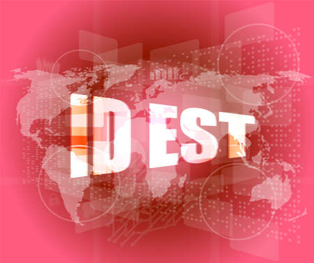 id est on digital touch screen, business concept