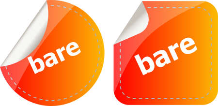 bare word on stickers button set, business label
