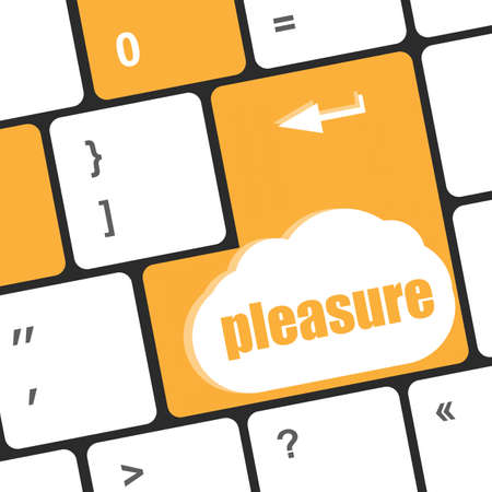 A keyboard with a pleasure key - social concept