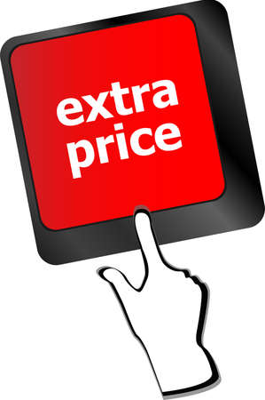 extra price word key or keyboard keys, discount concept