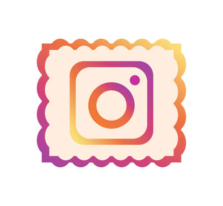Instagram logo. Instagram is online service for online users. Share videos and pictures on social networking platforms. Instagram app . Kharkiv, Ukraine - June , 2020
