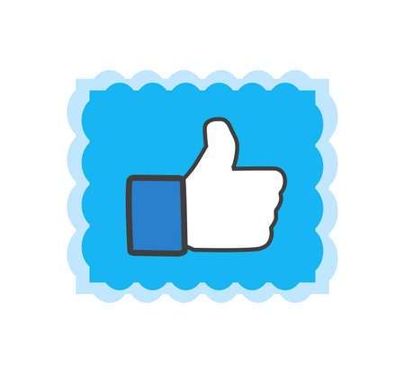 Facebook thumbs up sign. Facebook is a well-known social networking service. Facebook icon . Kharkiv, Ukraine - June , 2020 에디토리얼