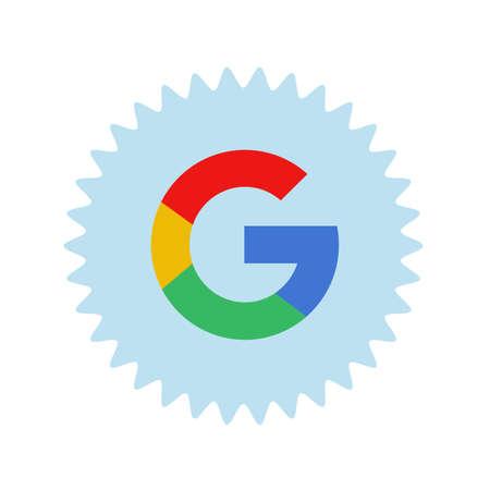 Google logo. Google it is the largest Internet search engine, owned of USA Google Inc . Kharkiv, Ukraine - June, 2020 에디토리얼