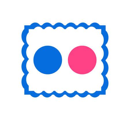 Flickr logo. Flickr is an image hosting video hosting website, photo sharing site for storing user . Kharkiv, Ukraine - June , 2020 에디토리얼