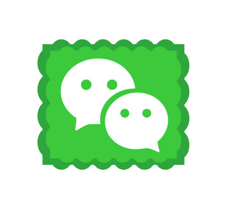 WeChat logo. WeChat is a Chinese multi-purpose messaging, social media and mobile payment app . Kharkiv, Ukraine - June , 2020 에디토리얼