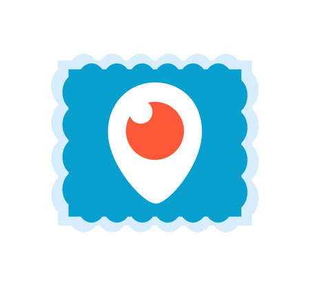 Periscope logo. Periscope is made by Twitter. Periscope live video broadcast to the world, video streaming service . Kharkiv, Ukraine - June , 2020 에디토리얼