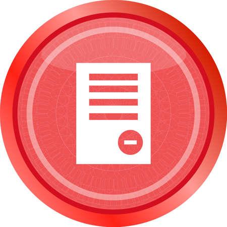 Text file sign icon. Delete File document symbol.
