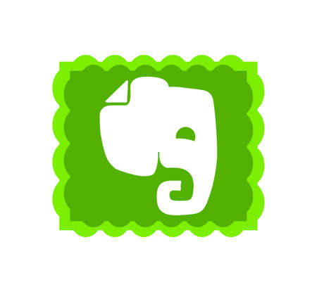 Evernote is an app designed for organizing, note taking, and archiving. Evernote logo . Kharkiv, Ukraine - June , 2020