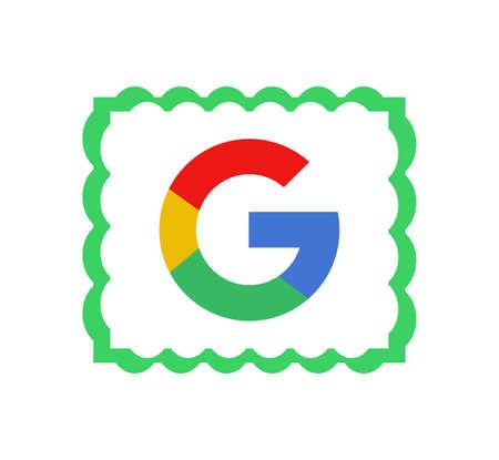 Google logo. Google it is the largest Internet search engine, owned of USA Google Inc . Kharkiv, Ukraine - June , 2020