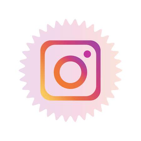 Instagram logo. Instagram is online service for online users. Share videos and pictures on social networking platforms. Instagram app . Kharkiv, Ukraine - June, 2020 에디토리얼